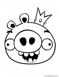 Angry Birds - King Pig 01 Coloring Page