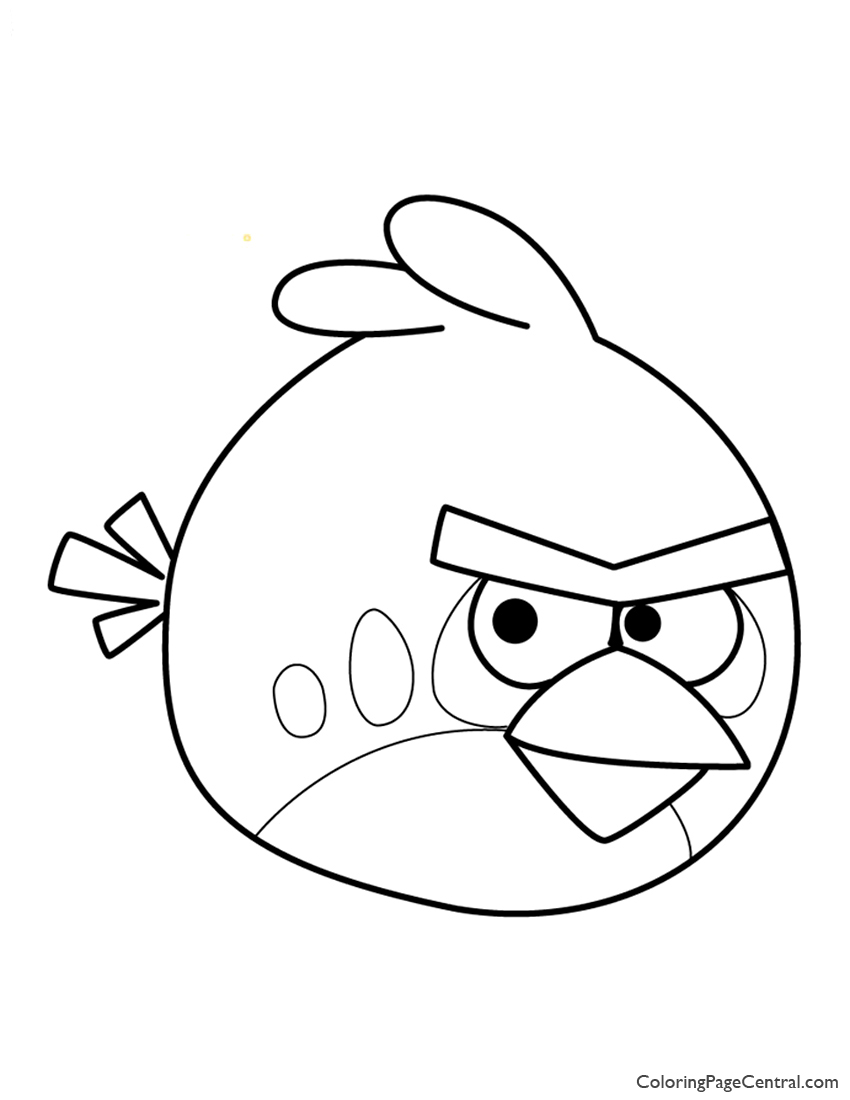 angry birds u2013 red 01 coloring page coloring page central
