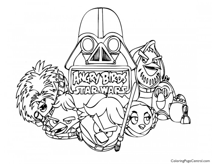 Angry Birds Star Wars 01 Coloring Page
