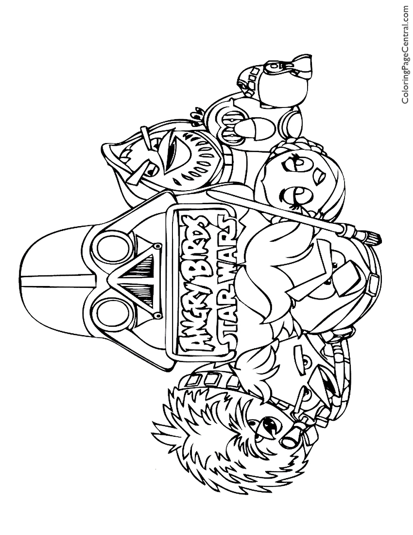 angry birds star wars 01 coloring page coloring page central