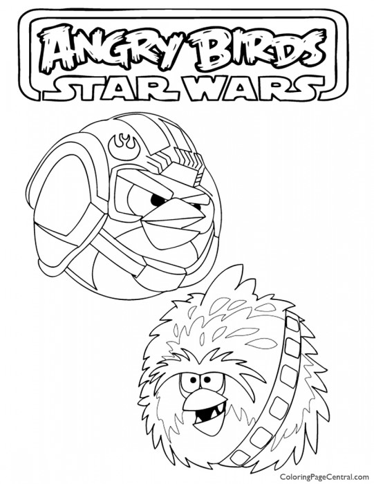 Angry Birds Star Wars 02 Coloring Page