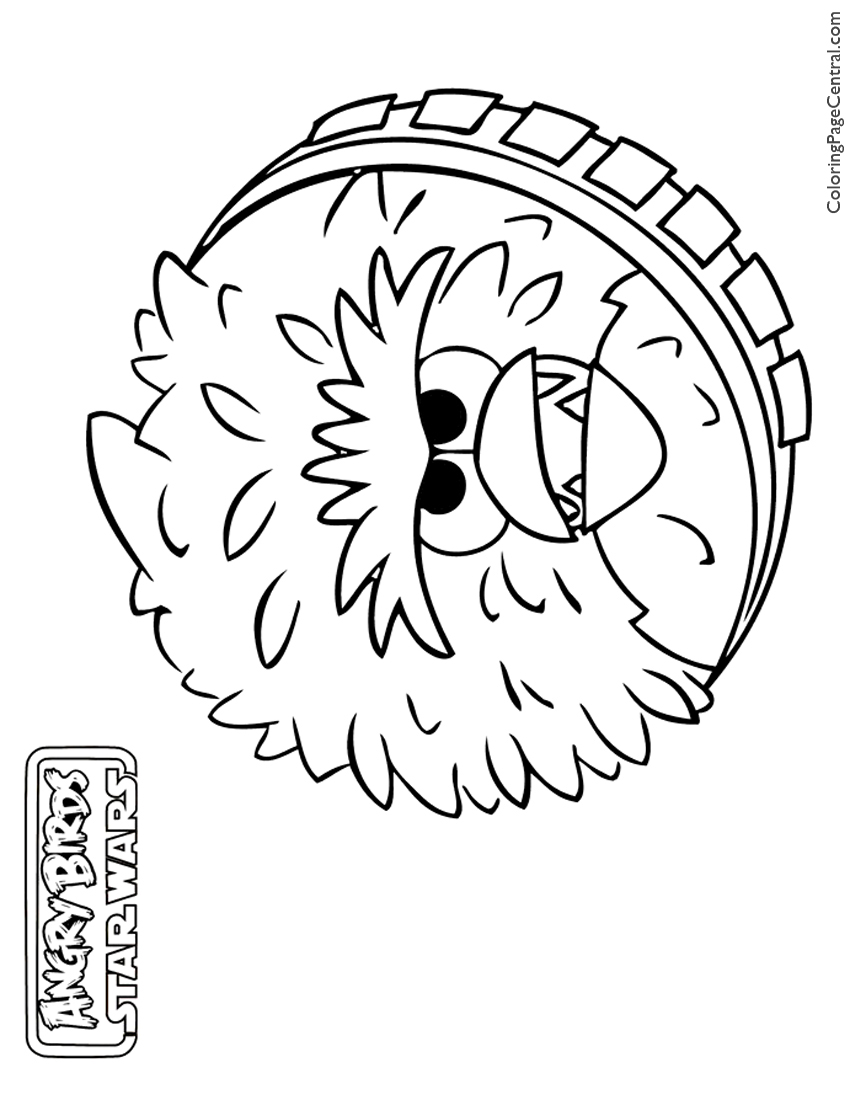 angry birds star wars chewbacca 01 coloring page - Angry Birds Star Wars Coloring Pages