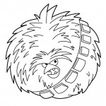 Angry Birds Star Wars - Chewbacca 02 Coloring Page