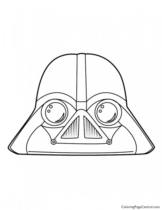 Angry Birds Star Wars - Darth Vader 01 Coloring Page