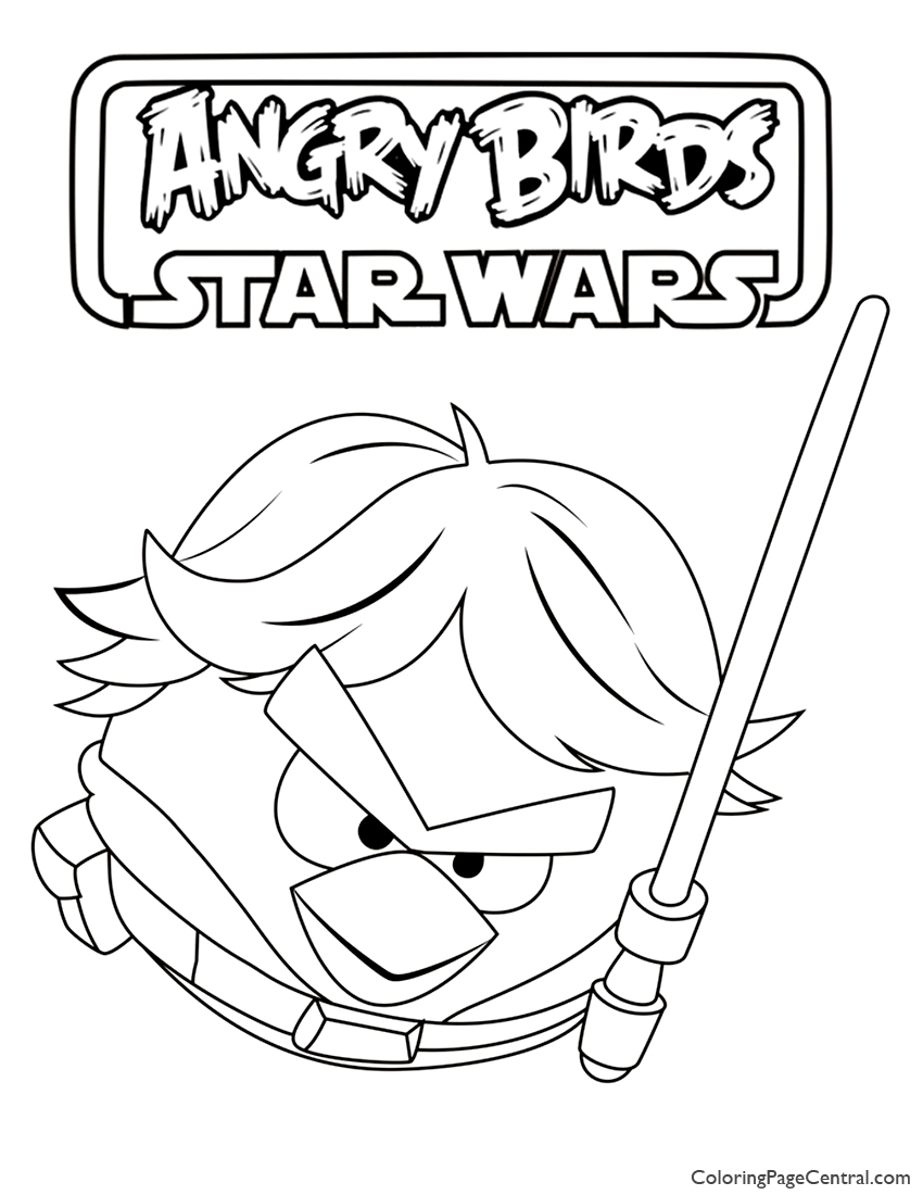 Uncategorized Angry Birds Star Wars Colouring Pages angry birds star wars luke skywalker 01 coloring page page