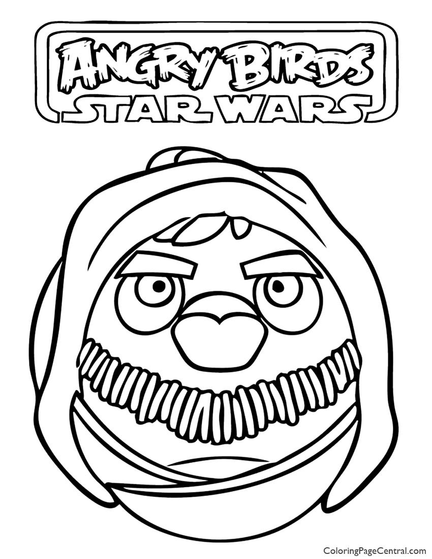 angry birds star wars u2013 obi wan kenobi 01 coloring page coloring