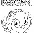 Angry Birds Star Wars - Princess Leia 01 Coloring Page