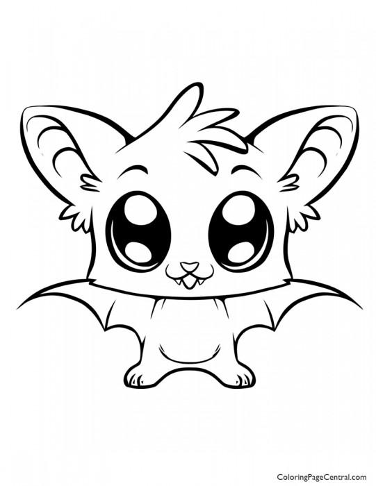 Bat 01 Coloring Page