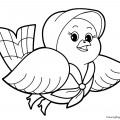 Bird 01 Coloring Page