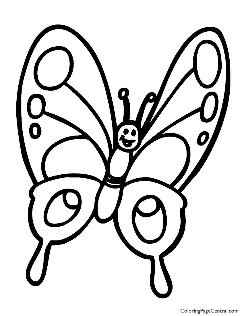 Butterfly 01 Coloring Page | Coloring Page Central