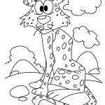 Cheetah 01 Coloring Page