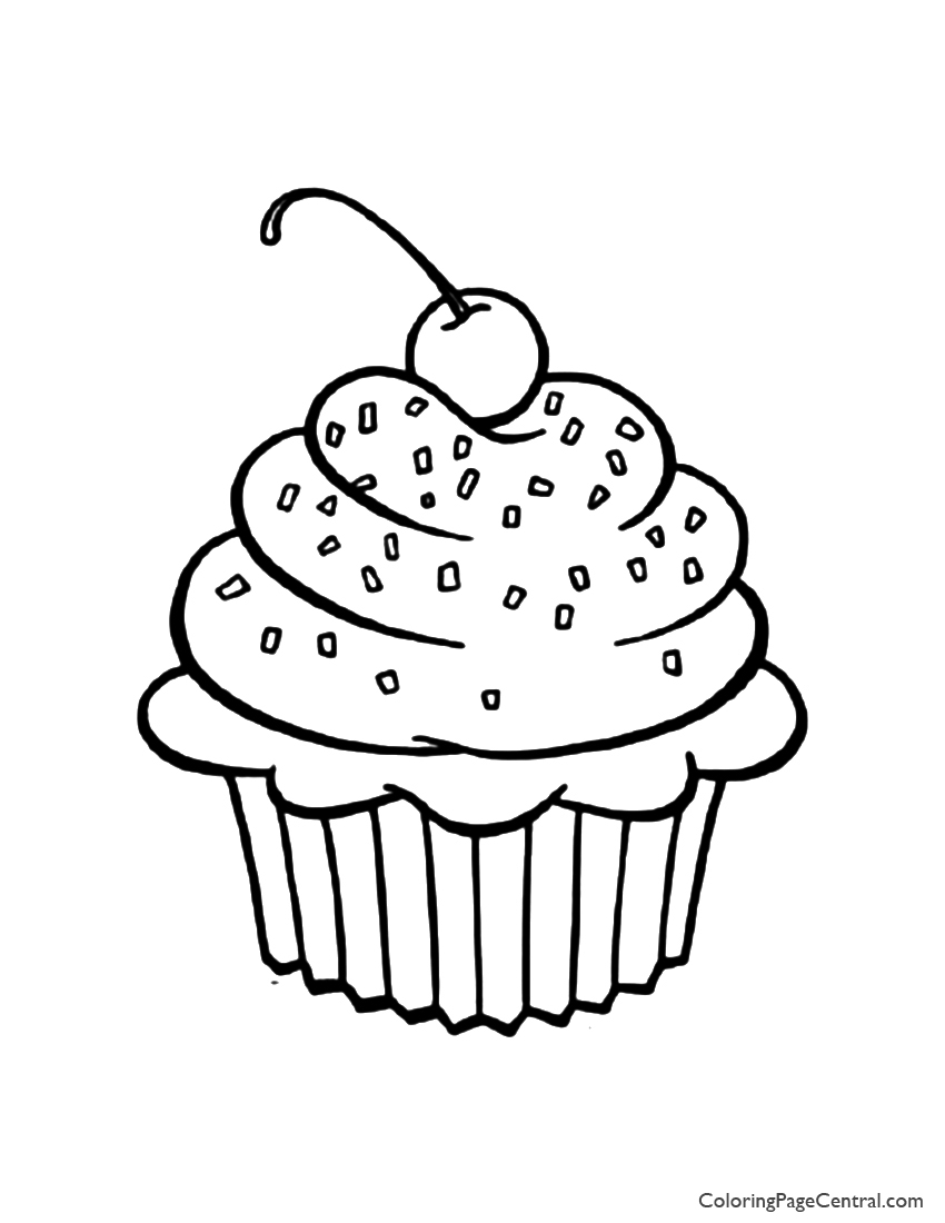 Worksheet. Cupcake 01 Coloring Page  Coloring Page Central