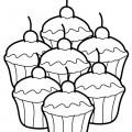 Cupcake 02 Coloring Page