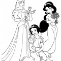 Disney Princesses 02 Coloring Page