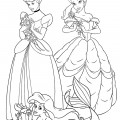 Disney Princesses 03 Coloring Page