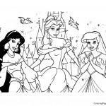 Disney Princesses 11 Coloring Page