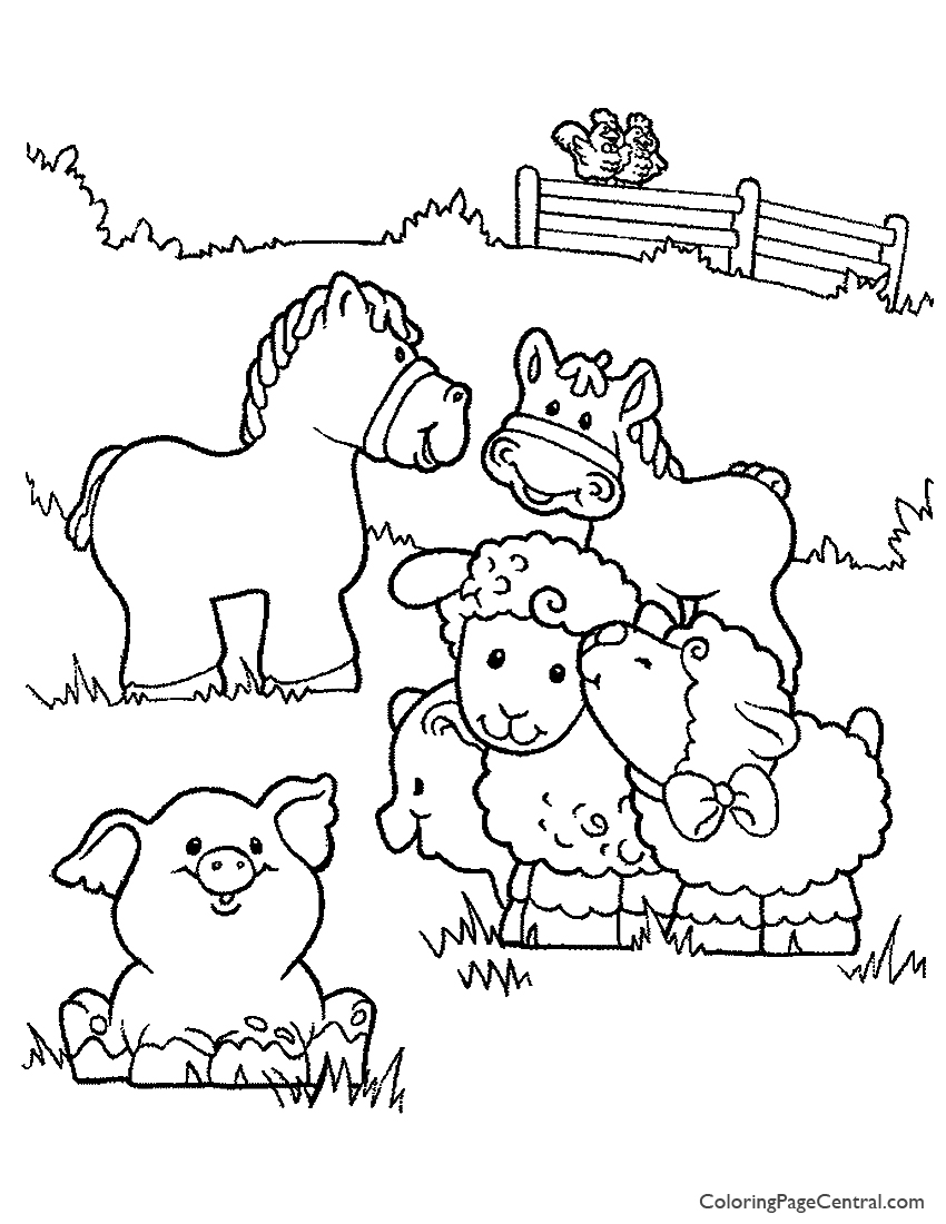 farm animals 01 coloring page coloring page central