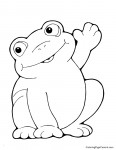 Frog 01 Coloring Page