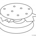 Hamburger 01 Coloring Page