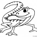 Lizard 01 Coloring Page