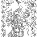 Peacock 01 Coloring Page
