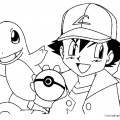 Pokemon - Ash Coloring Page 01