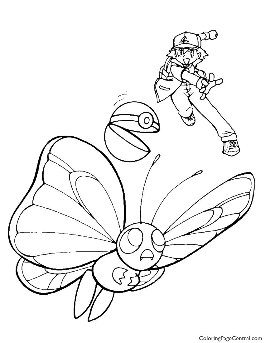 Pokemon Ash Coloring Page 04