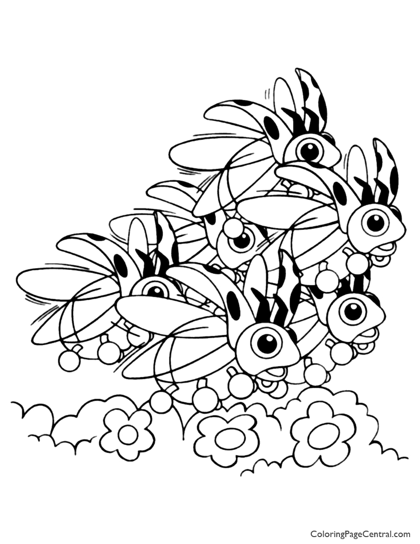 pokemon u2013 ledyba coloring page 01 coloring page central