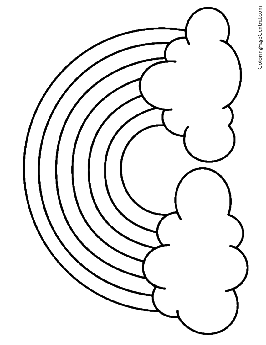 rainbow outline coloring page virtren com