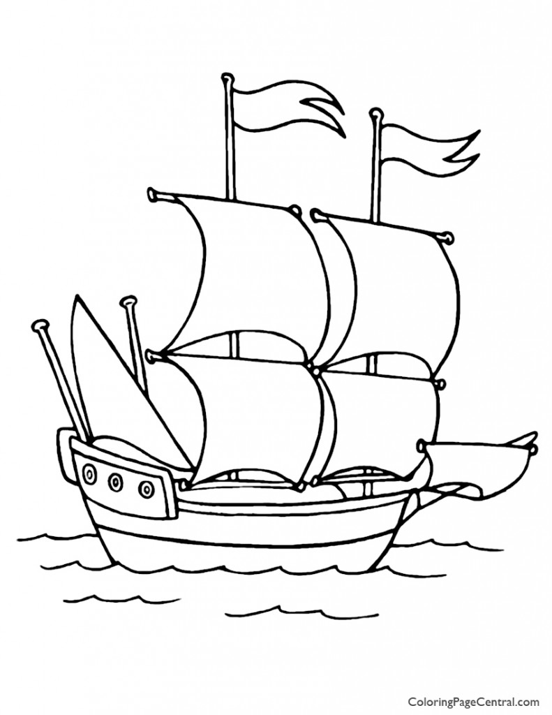 Ship 01 Coloring Page
