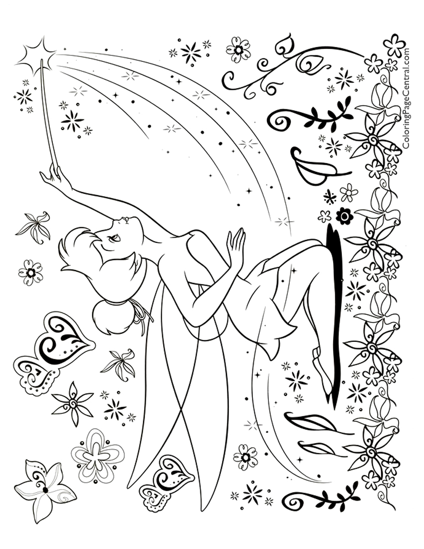 tinkerbell 03 coloring page coloring page central