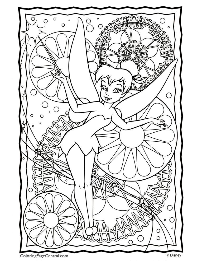 tinkerbell coloring page central