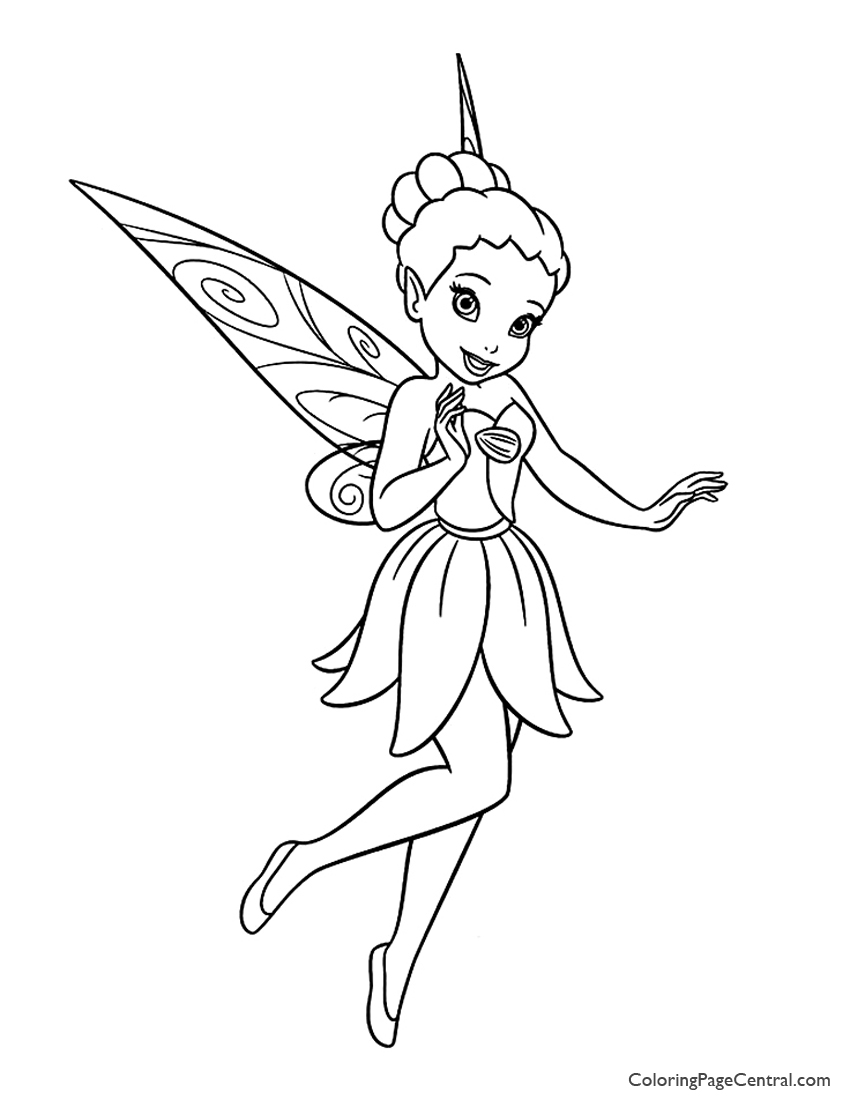 Tinkerbell – Iridessa 01 Coloring Page | Coloring Page Central