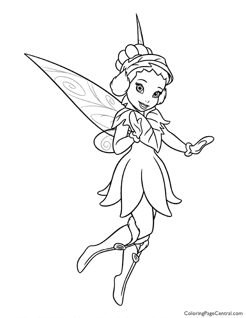 Tinkerbell Iridessa 02 Coloring Page Coloring Page Central