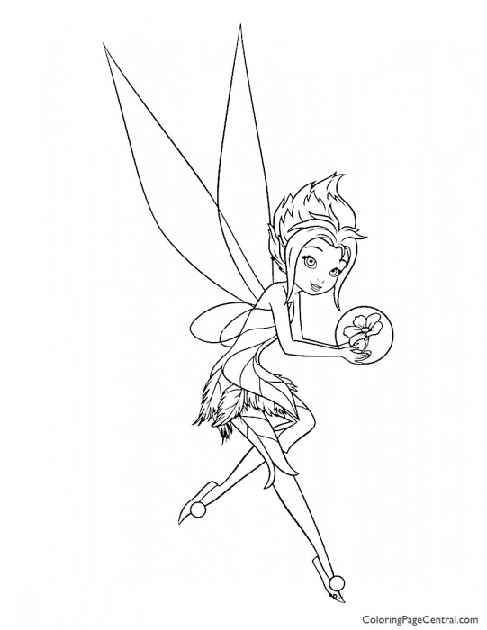 Tinkerbell - Periwinkle 04 Coloring Page