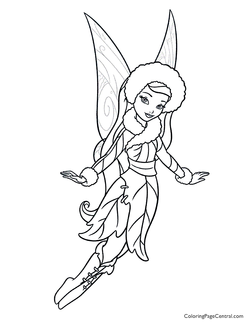 Tinkerbell Silvermist 01 Coloring Page Coloring Page Central