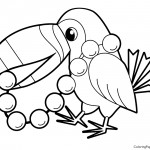 Toucan 01 Coloring Page