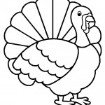 Turkey 01 Coloring Page