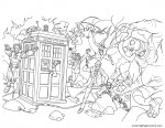 Doctor Who 02 Coloring Page