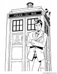 Doctor Who 04 Coloring Page
