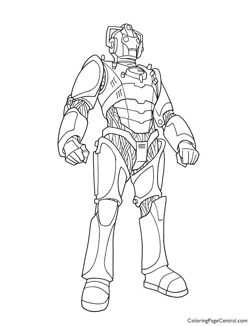 Doctor Who – Cyberman Coloring Page | Coloring Page Central