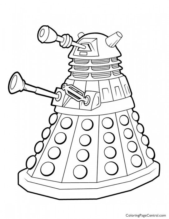 Doctor Who - Dalek Coloring Page
