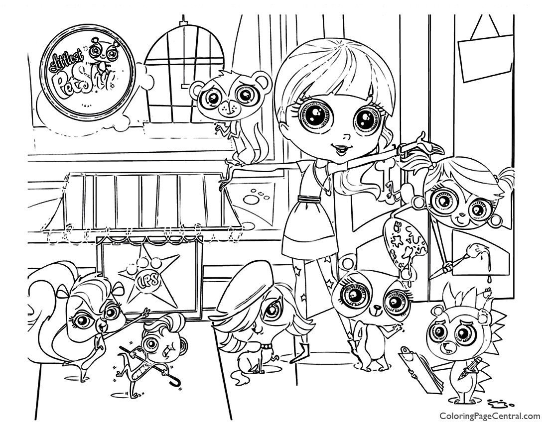 Littlest pet shop 01 coloring page coloring page central for Littlest pet shop coloring pages dog