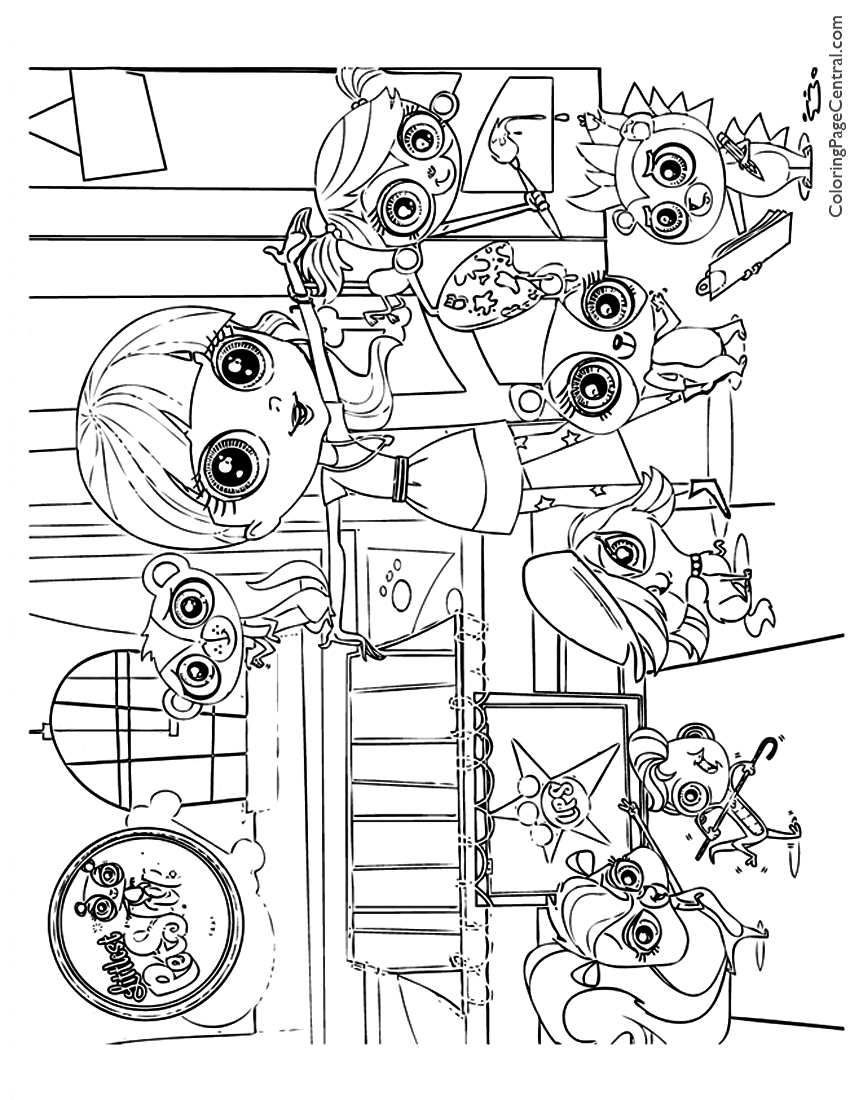 Littlest pet shop 01 coloring page coloring page central for Littlest pet shop coloring pages panda