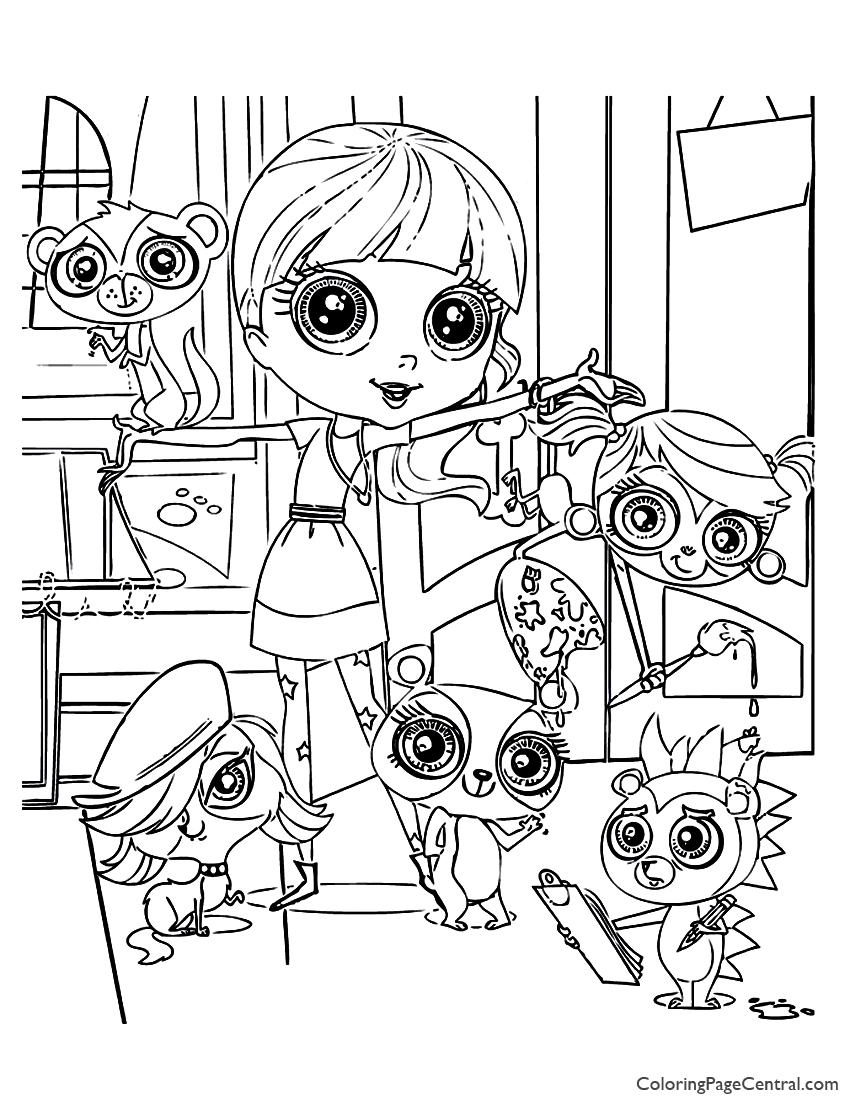littlest pet shop 02 coloring page - Littlest Pet Shop Coloring Page