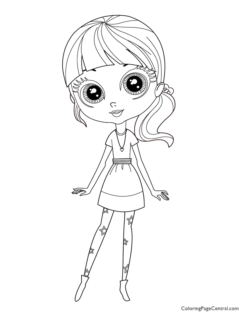 Free coloring pages littlest pet shop - Littlest Pet Shop Blythe Baxter Coloring Page