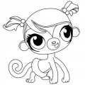 Littlest Pet Shop - Minka Mark Coloring Page