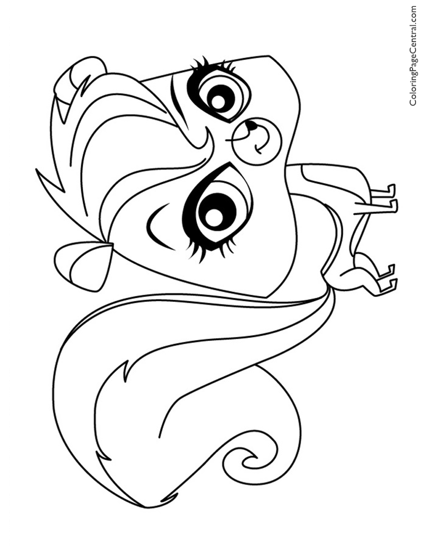 Free coloring pages littlest pet shop - Littlest Pet Shop Pepper Clark Coloring Page